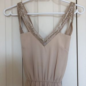 MAXI BEIGE CLASSY DRESS XS